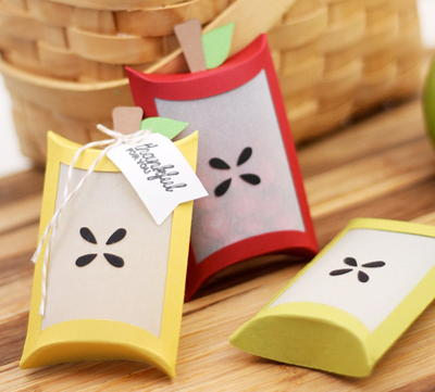 Delicious Apple Pillow Boxes