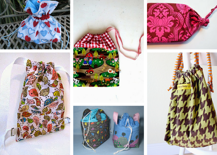How to Make a Drawstring Bag Tutorials and Drawstring Bag Patterns ...
