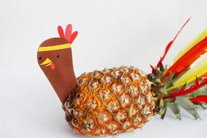 Printable Pineapple Turkey DIY Decor