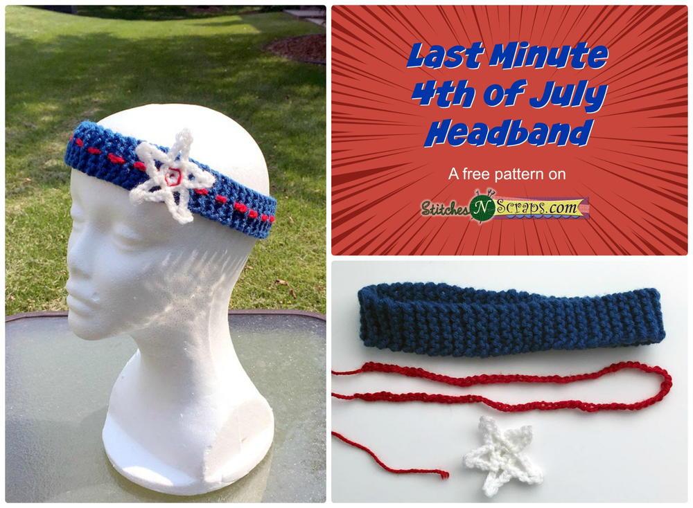 Last Minute 4th Of July Headband Allfreecrochet Com