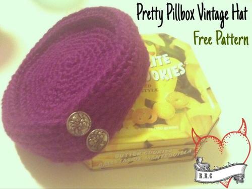 5eeb6df2180f2 Pretty Pillbox Vintage Hat   AllFreeCrochet.com