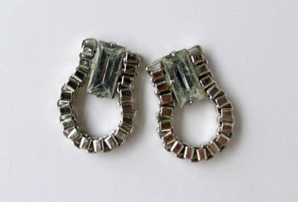 Anthropologie-Inspired Crystal Box Chain Earrings