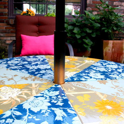 Unique Flowered Patio Lounge Table