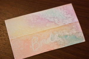Whimsical Watercolor Place Cards