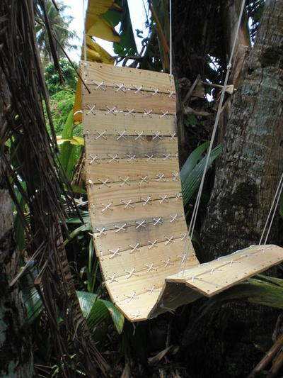 Tropical Hanging Paracord Lounge Chair
