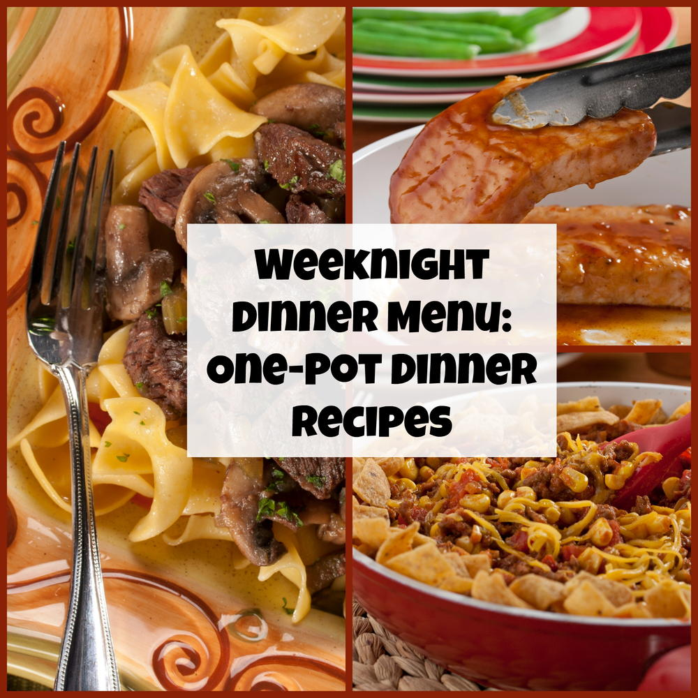 Weeknight Dinner Menu 10 One Pot Dinner Recipes Mrfood Com
