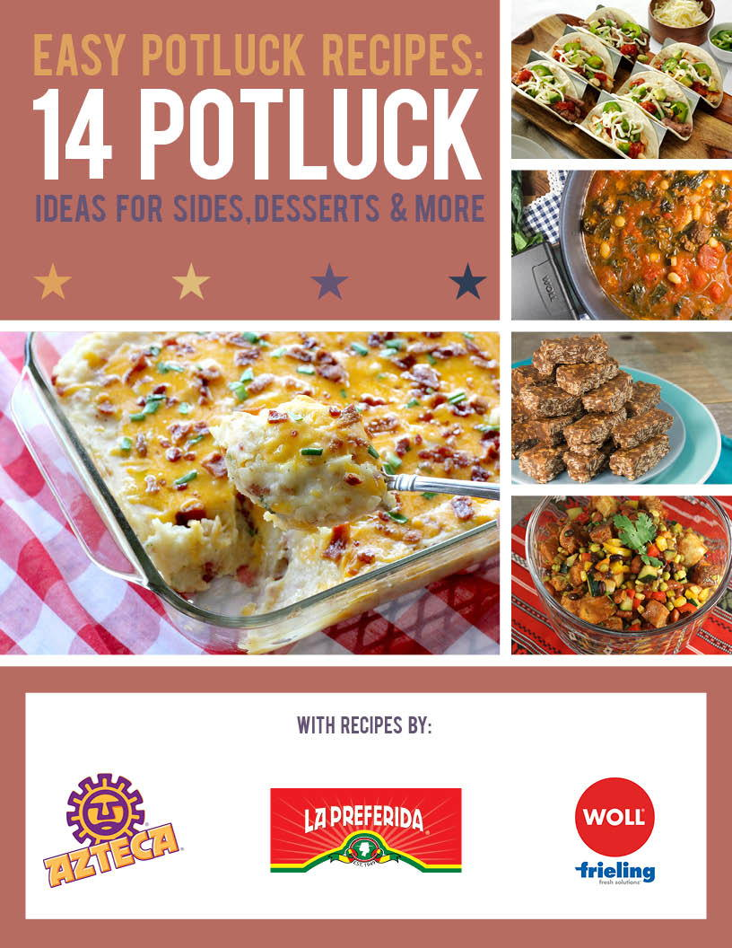 2017 05 potluck ideas for small groups - Easy Potluck Recipes 14 Potluck Ideas For Sides Desserts And More Free Ecookbook