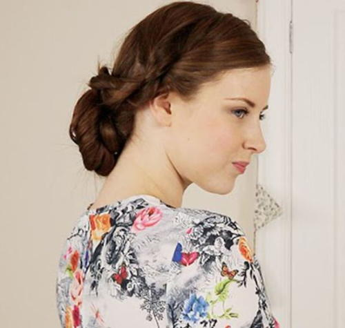 Rope Braid Bridal Updo
