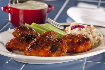 Pan-Grilled Buffalo Wings