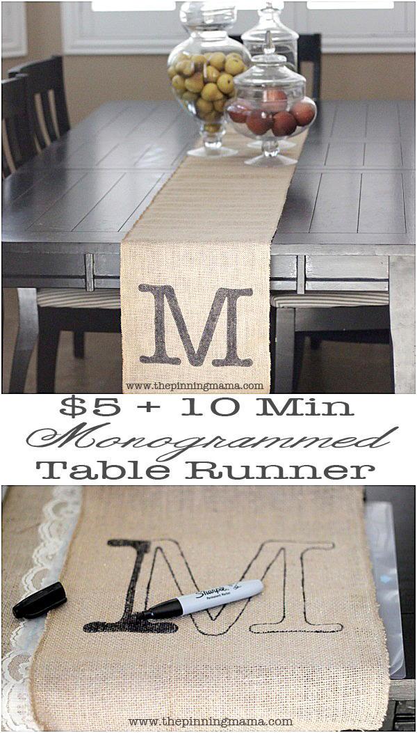 Easy Rustic DIY Table Runner | AllFreeDIYWeddings.com