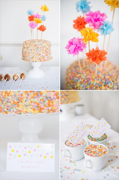 Cheerful Sprinkles DIY Dessert Table Inspiration
