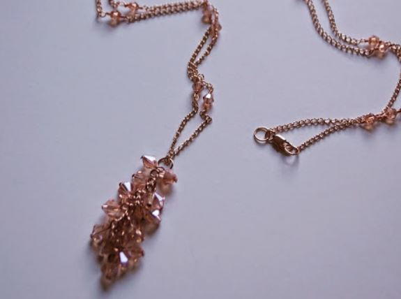 Petite Pink Crystal Necklace
