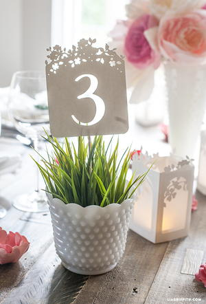 Delicate DIY Table Numbers