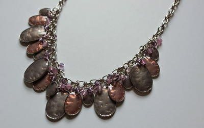 Mauve Madness Charm Necklace