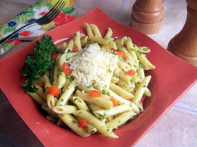 Penne Parsley Pesto