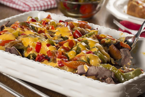 Philly Cheese Steak Bake