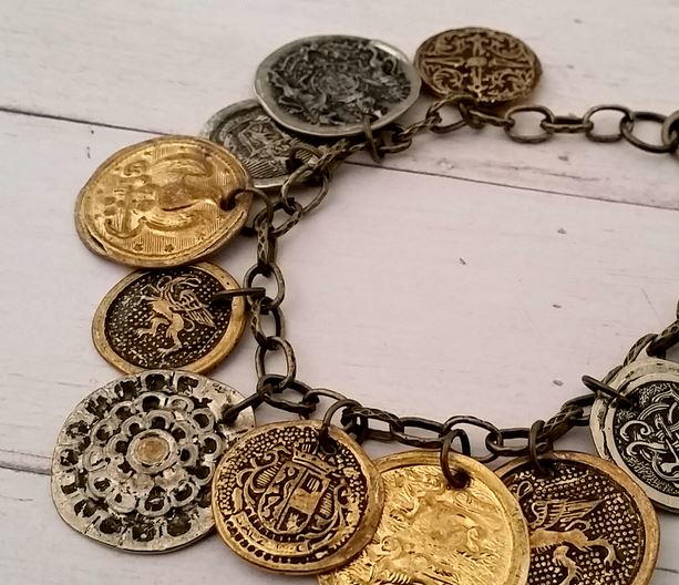 Charming Button-to-Coin DIY Bracelet