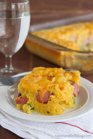 Easy Baked Corn Dog Casserole