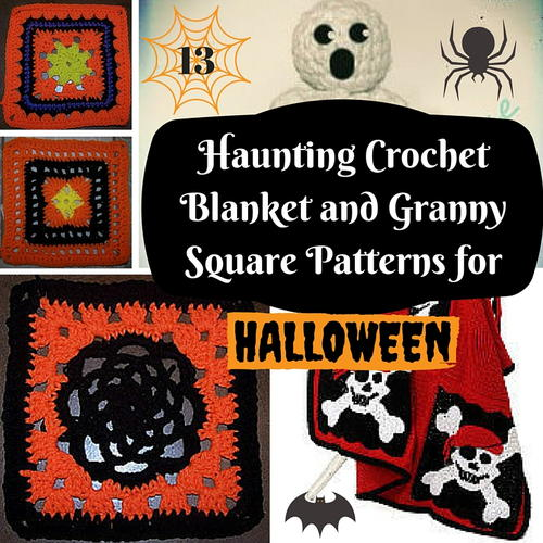 Haunting Crochet Blanket and Granny Square Patterns for Halloween