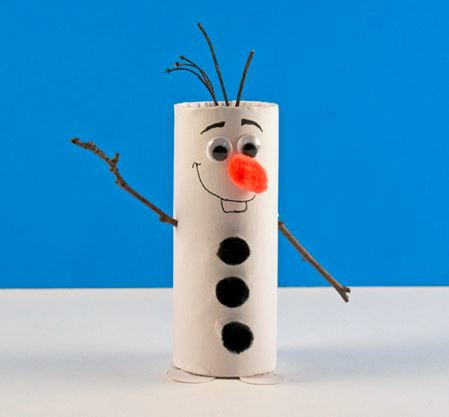paper roll snowman craft toilet paper roll olaf the snowman allfreekidscrafts 5131