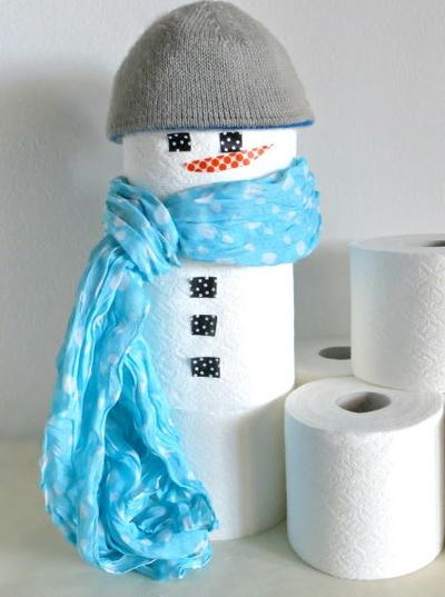 Super Cute Toilet Paper Snowman
