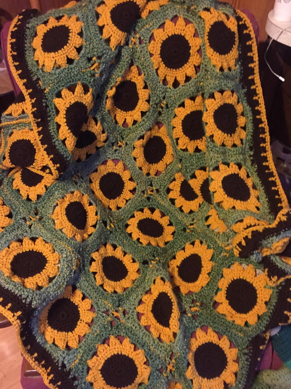 Crochet Sassy Sunflower Afghan Allfreecrochet