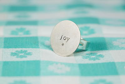 Hand-Stamped Metal Rings