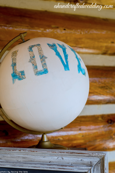 DIY Pretty Painted Globe