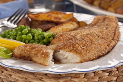 Potato Crusted Fish and Chips
