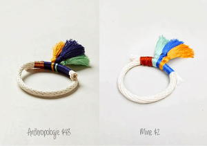 DIY Anthropologie Inspired Tassled Rope Bracelet