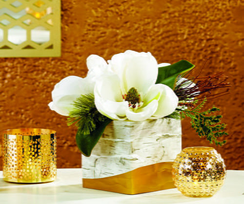 Gold Dipped Winter Flower Box