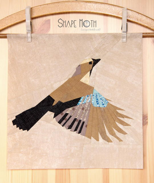 In-Flight Jay Quilt Block