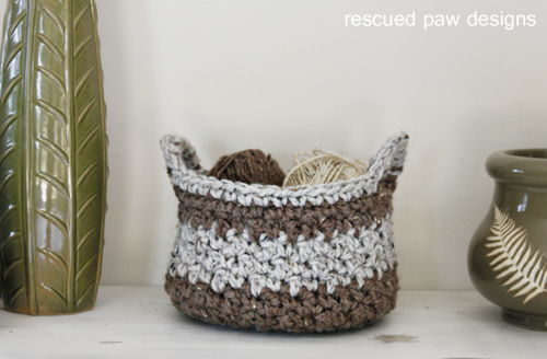Organize in Style with an Easy Crochet Basket