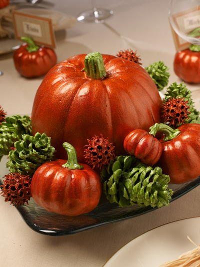 Pretty Pumpkin Fall Wedding Centerpiece