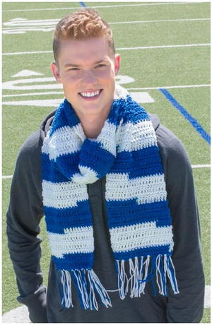 Team Spirit Game Day Scarf Pattern