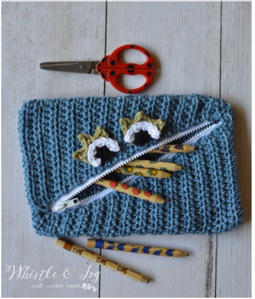 Monster Crochet Pencil Pouch