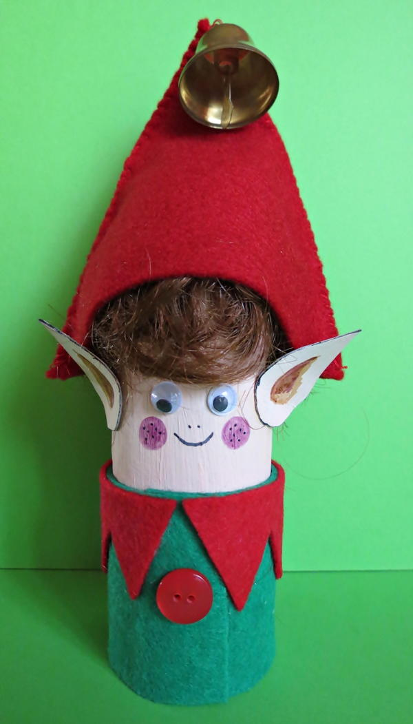 Little Elf Toilet Paper Roll Craft