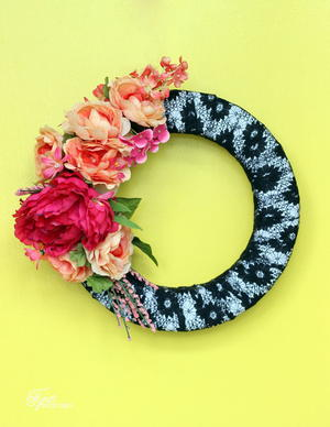 Fabulous Faux Flower Wreath