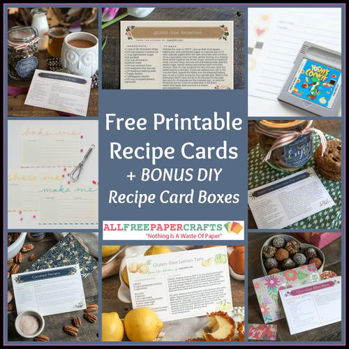 10 Free Printable Recipe Cards + BONUS DIY Recipe Card Boxes
