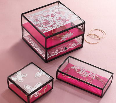 DIY Lace Jewelry Boxes