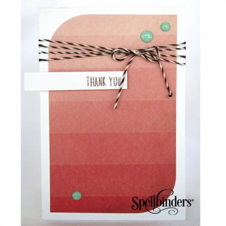 DIY Ombre Thank You Card