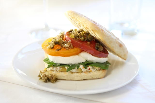 Puttanesca Panini with Crispy Fried Capers