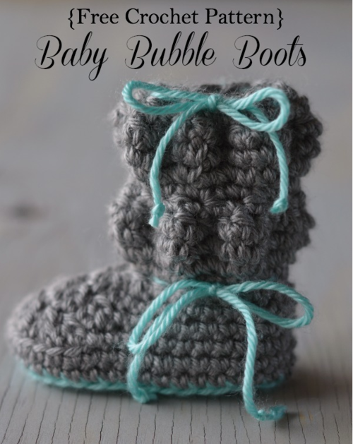Beautiful Bubble Baby Booties