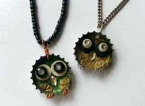Junk to Jewelry Owl Necklace