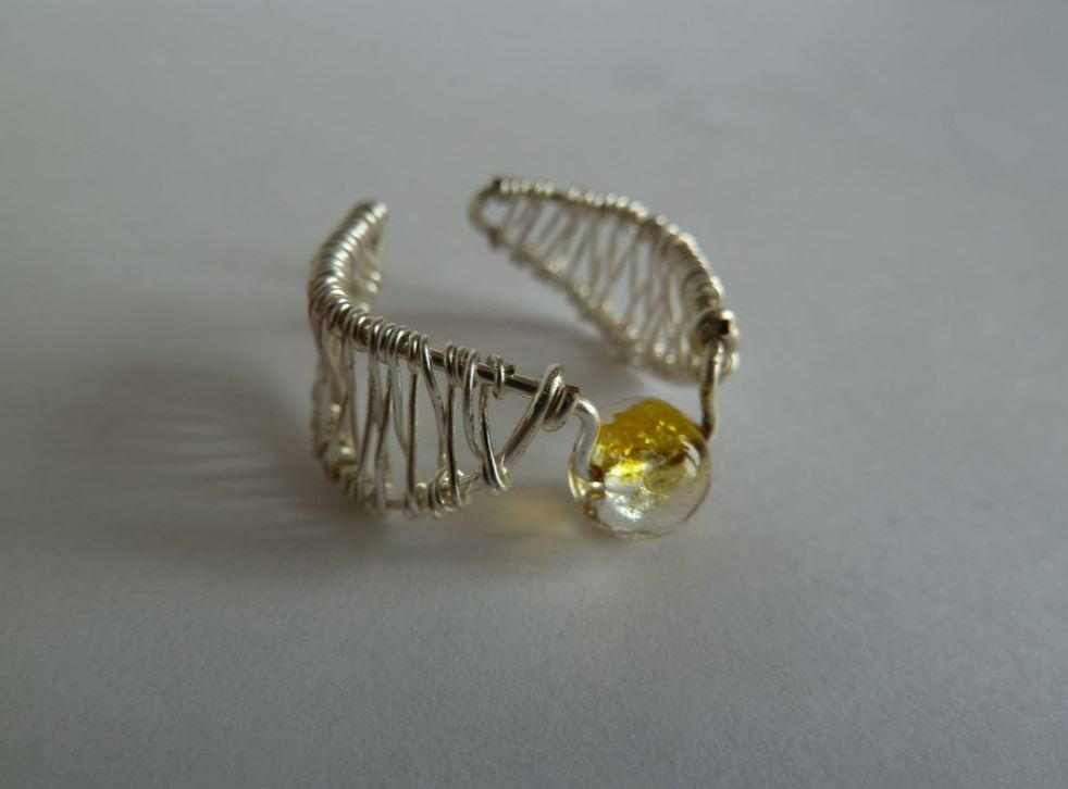 Golden Snitch Wire Ring Allfreejewelrymaking Com