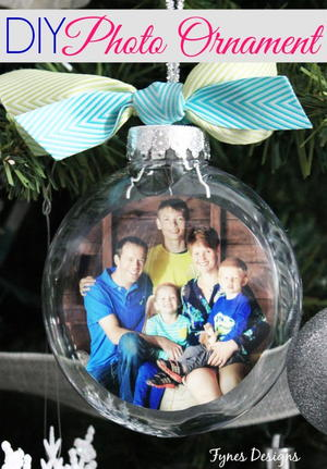 Precious Memories Glass Photo Ornament