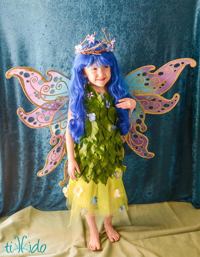 DIY Flower Fairy Costume | DIYIdeaCenter.com