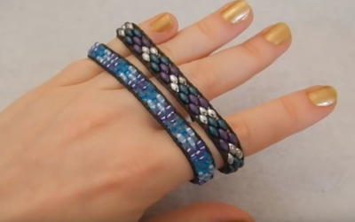Twin Bead Wrap Bracelet