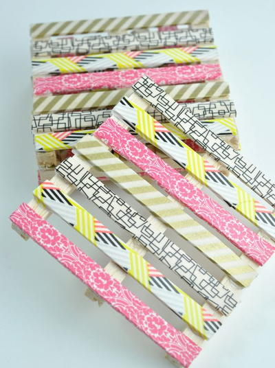 Washi Tape Mini Pallet Coasters