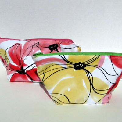 Adorable Recycled Skirt Pouch
